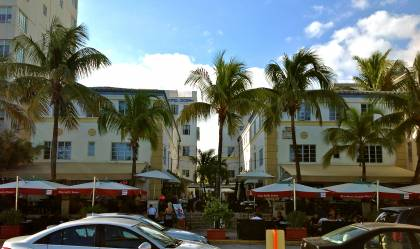 Hotel Ocean east elevation (view when facing west on Ocean Drive)
