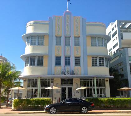 Marlin Hotel east elevation (view when facing west on Collins Avenue)